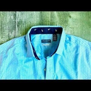 VAN HEUSEN … Man short sleeve shirt 👔 Small 14-14 1/2